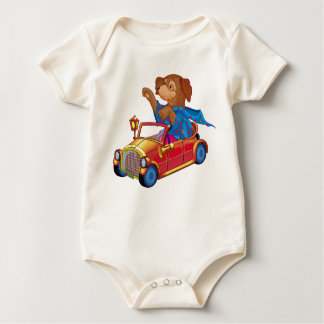 train and car baby bodysuit