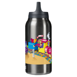 train and car insulated water bottle