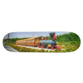 Train and Eiffel tower in Miracle Garden,Dubai 20.6 Cm Skateboard Deck