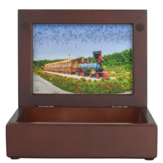 Train and Eiffel tower in Miracle Garden,Dubai Keepsake Box