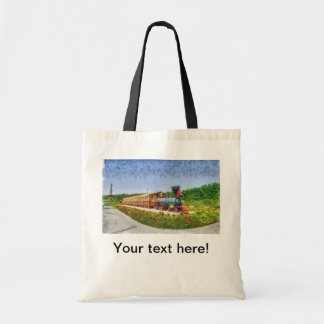 Train and Eiffel tower in Miracle Garden,Dubai Tote Bag
