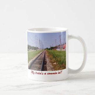 train and tracks 2, My train's a commin in!! Coffee Mug