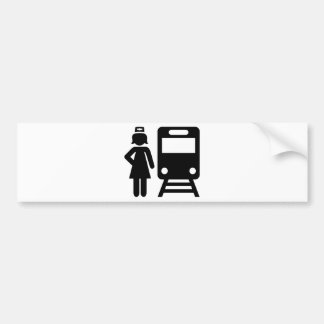 Train attendant bumper sticker