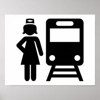 Train attendant poster