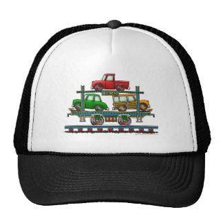 Train Auto Carrier Car Railroad Hats
