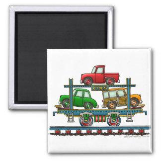 Train Auto Carrier Car Railroad Magnets
