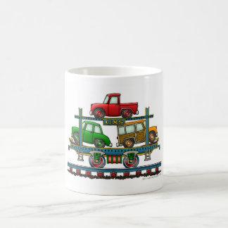 Train Auto Carrier Car Railroad Mugs