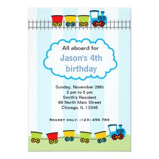 Train Birthday Custom Invitation