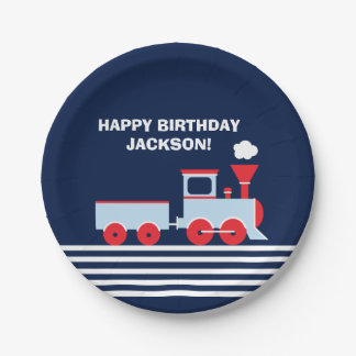 Train Birthday Paper Palte 7u0026quot; Paper Plate  sc 1 st  Zazzle & EllisonReed: Designs u0026 Collections on Zazzle