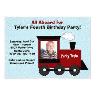 Train Birthday Party Invitation