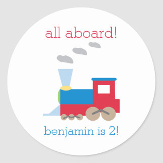 Train Birthday Party Sticker