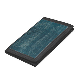 Train Blueprint I Trifold Wallet