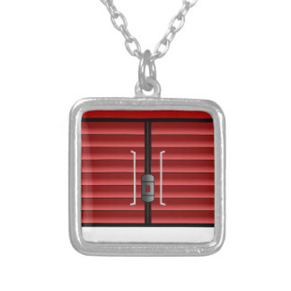 Train Boxcar Silver Plated Necklace