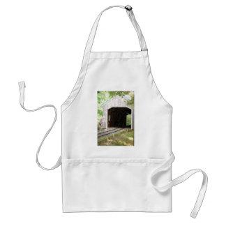 train bridge pencil artwork adult apron