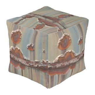 Train Car Cubed Pouf II - The Vintage Collection Cube Pouffe