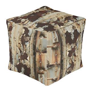 Train Car Cubed Pouf - The Vintage Collection Cube Pouffe