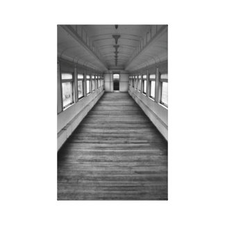 Train Car in B&W on canvas Stretched Canvas Prints