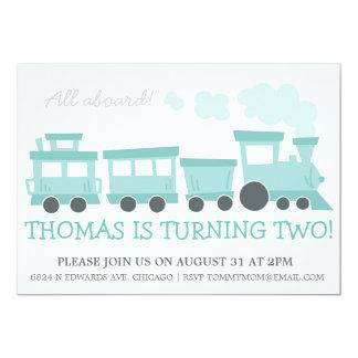 Train Cars Birthday Party Invite