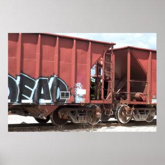 Train Cars Coupled Print