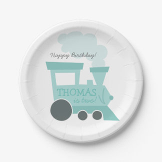 Train Cars Paper Plates 7 Inch Paper Plate