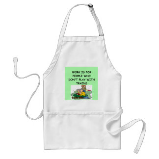 TRAIN collector Adult Apron