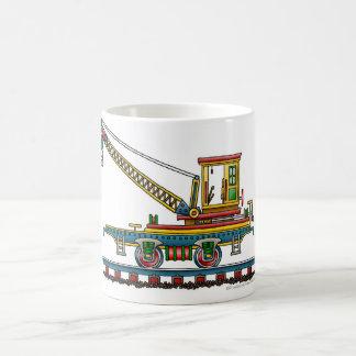 Train Crane Car Maintenance Car Railroad Classic White Coffee Mug