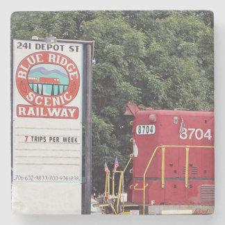 Train Depot, Blue Ridge, Georgia, Coasters Stone Beverage Coaster