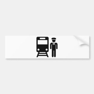 Train driver bumper sticker