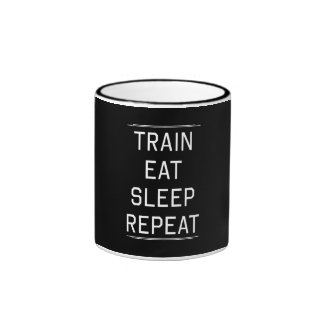 Train Eat Sleep Repeat. Ringer Mug