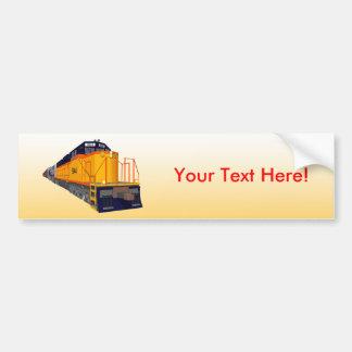 Train Engine: Classic Color Scheme: Bumper Sticker