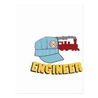 Train Engineer Postcard