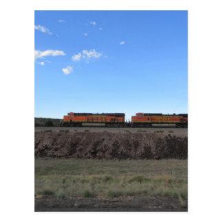 Train Engines Postcard