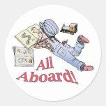 Train Fanatic Round Sticker
