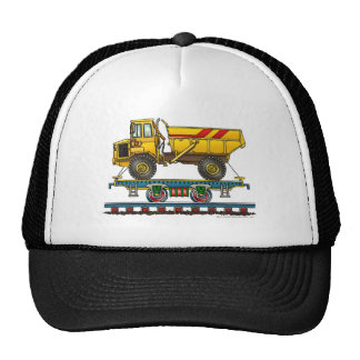 Train Flat Car Dump Truck Hats