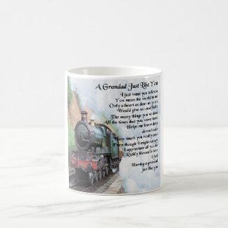Train - Grandad Poem Coffee Mug