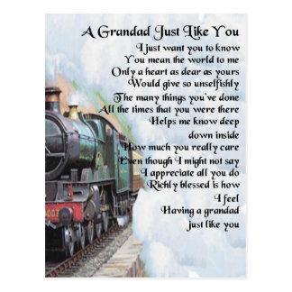 Train - Grandad Poem Postcard