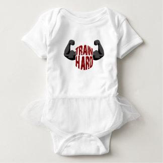 Train hard baby bodysuit