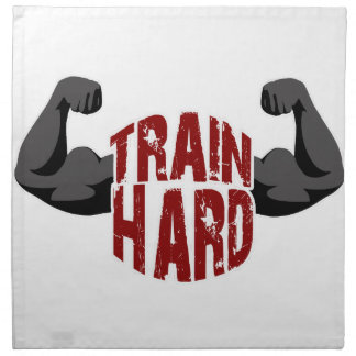 Train hard napkin