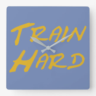 Train Hard Square Wall Clock