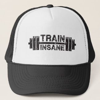 Train Insane - Barbell, Gym, Workout Inspirational Trucker Hat