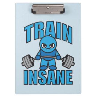 TRAIN INSANE Kawaii Weightlifter Deadlift Workout Clipboard
