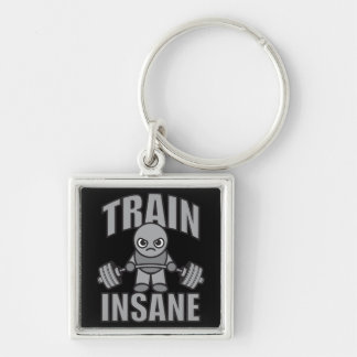 TRAIN INSANE - Workout Cartoon Anime Motivational Key Ring