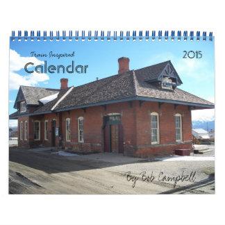 Train Inspired 2015 Calendar