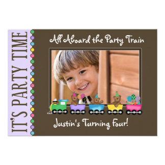 Train Kid s Birthday Party Invitation