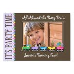 Train Kid's Birthday Party Invitation