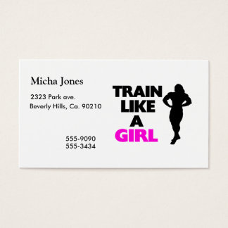 Train Like A Girl Business Card