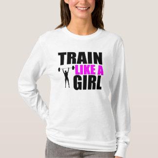 Train Like a Girl - Ladies Fitness Hoodie