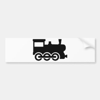 Train locomotive bumper sticker