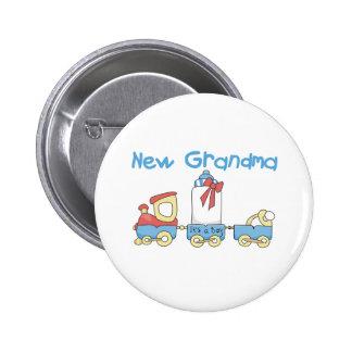 Train New Grandma It's a Boy Pinback Button