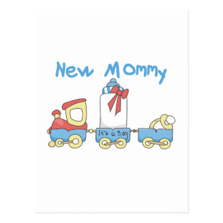 Train New Mommy of Boy tshirts and Gifts Postcard